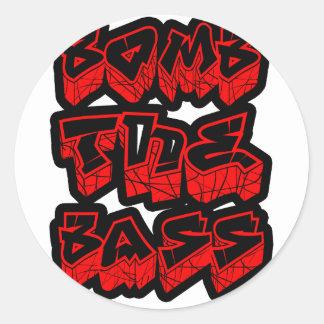低音音楽DnB電子ヒップホップのダビングDubstep ラウンドシール