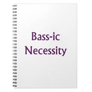 低音IC必要の紫色の文字のベース奏者のデザイン ノートブック