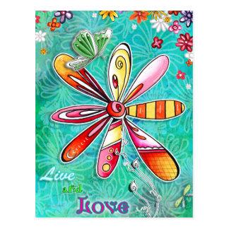 住み、花の郵便はがきを愛して下さい ポストカード