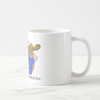 住むビーガンAの美しい方法コーヒー・マグ コーヒーマグカップ