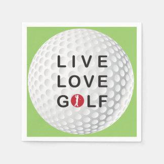 住んで下さい、ゴルフナプキンを愛して下さい スタンダードカクテルナプキン