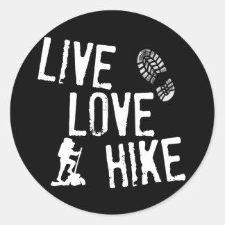 住んで下さい、愛して下さい、ハイキングして下さい ラウンドシール