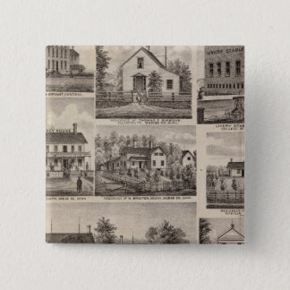 住宅および農家、Owatonna、ミネソタ 5.1cm 正方形バッジ
