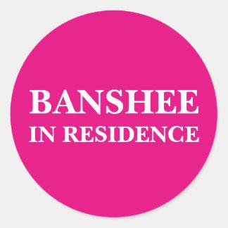 住宅のバンシー(カスタマイズ可能な文字および色) ラウンドシール
