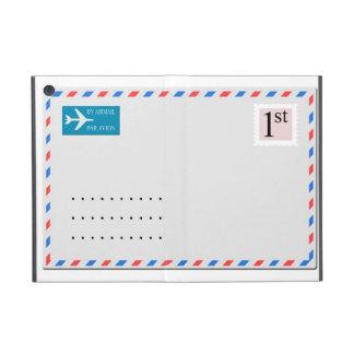 住所のためのコピーの宇宙が付いている航空郵便の封筒 iPad MINI ケース