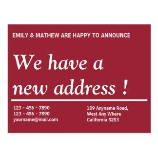 住所変更|のアドレス変更の|新しい住所 ポストカード