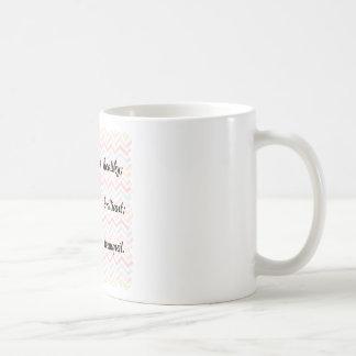 体の心の精神の断言 コーヒーマグカップ