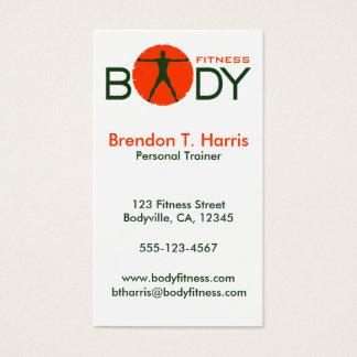 体の狂気の緑およびオレンジフィットネスのコーチ 名刺