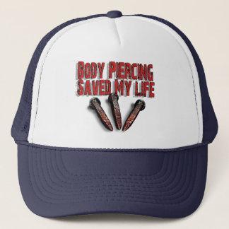 体の穿孔は私の生命帽子を救いました キャップ