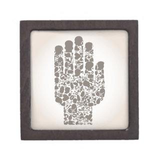体の部分の手 ギフトボックス