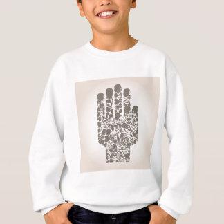 体の部分の手 スウェットシャツ