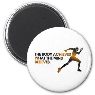 体は心が金ゴールドに信じるものを達成します マグネット