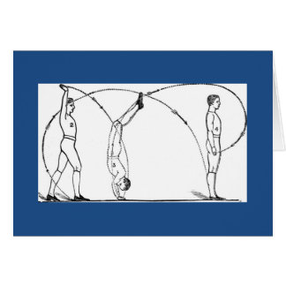 体操およびフィットネスの1891スタイル カード