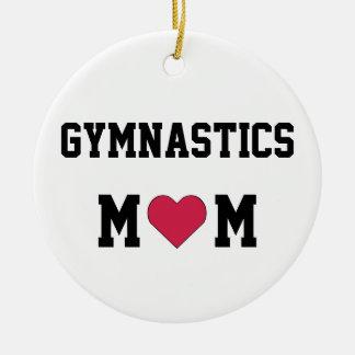 体操のお母さん 陶器製丸型オーナメント