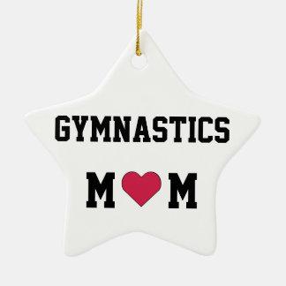 体操のお母さん 陶器製星型オーナメント
