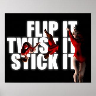 体操のインスピレーション、FLIP-TWIST-STICKそれ プリント