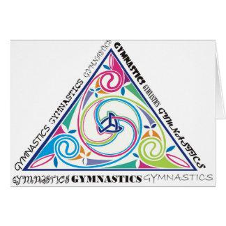 体操のケルト人の三角形 カード