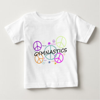 体操のピースサイン ベビーTシャツ