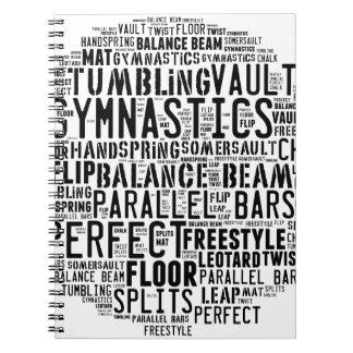 体操の単語の雲のタンブリング ノートブック