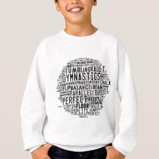 体操の単語の雲 スウェットシャツ