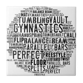 体操の単語の雲 タイル