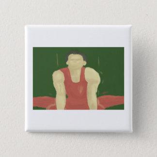 体操の強さ、ボタン 5.1CM 正方形バッジ
