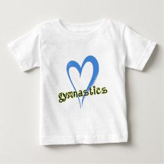 体操の青のハート ベビーTシャツ