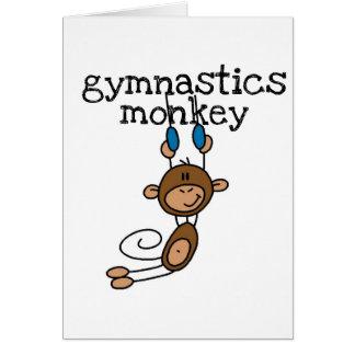 体操猿のTシャツおよびギフト グリーティングカード