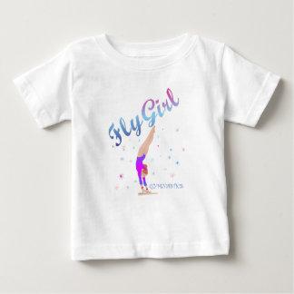 体操-はえの女の子のティー ベビーTシャツ