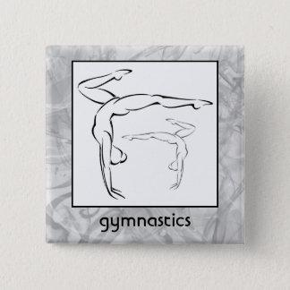 体操II 5.1CM 正方形バッジ