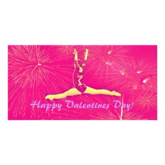 体育専門家のバレンタインデーのフォトカード カード