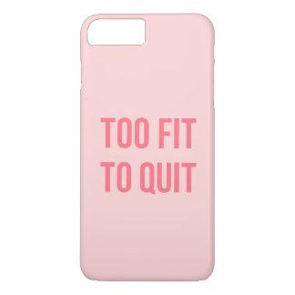 体育館のやる気を起こさせるな引用文の余りに合われたショッキングピンク iPhone 8 PLUS/7 PLUSケース
