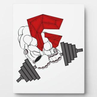 体育館のロボット フォトプラーク