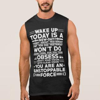 体育館の刺激のTシャツを目覚めて下さい 袖なしシャツ