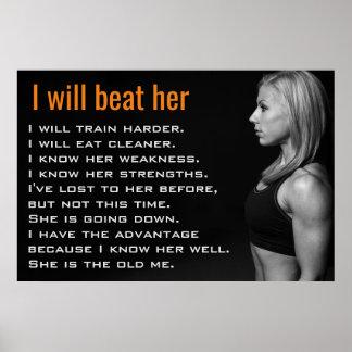 体育館の女性は|の女の子のトレーニングの刺激を押し進ませます ポスター