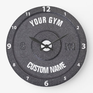 体育館の所有者またはユーザーおもしろいで白い数時計 ラージ壁時計