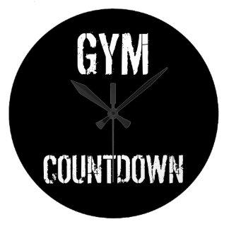 体育館の秒読みのミニマリストの時計 ラージ壁時計