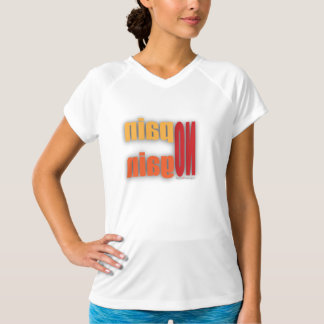 体育館のTシャツ-苦痛無し利益鏡像無し(彼女) Tシャツ