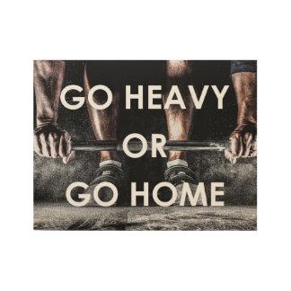 体育館はやる気を起こさせるな訓練のフィットネスを重くします ウッドポスター