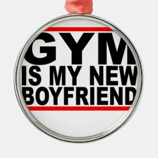 体育館は私の新しいboyfriend.pngです シルバーカラー丸型オーナメント