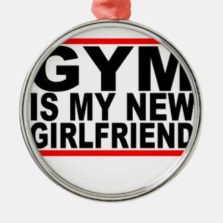 体育館は私の新しいgirlfriend.pngです メタルオーナメント