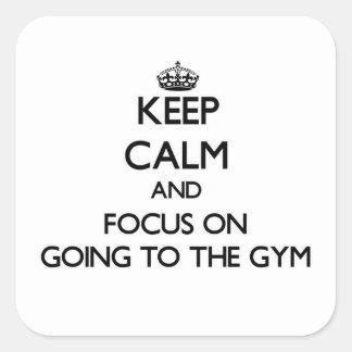 体育館へ行くことの平静そして焦点を保って下さい スクエアシール
