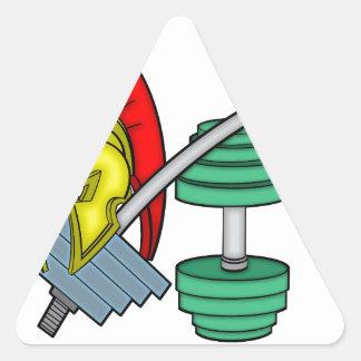 体育館装置のスパルタ式のヘルメット 三角形シール