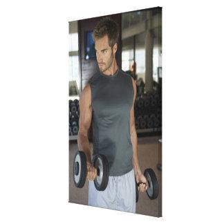 、体育館運動します、スポーツ、人、体の心配、日、 キャンバスプリント