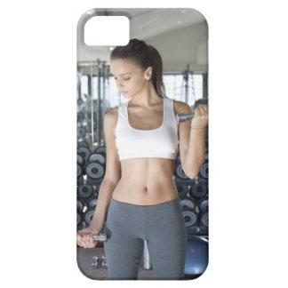 、体育館運動します、スポーツ、女性、体の心配、日、 iPhone SE/5/5s ケース