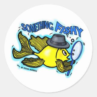 何かなま臭くおもしろいな探偵の魚の漫画カード ラウンドシール