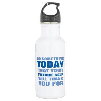 何かをして下さい今日未来の自己が水Btl Blを感謝していしている 532ml ウォーターボトル