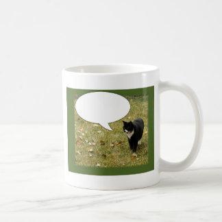 何かをカスタマイズ可能な猫のデザイン言って下さい コーヒーマグカップ