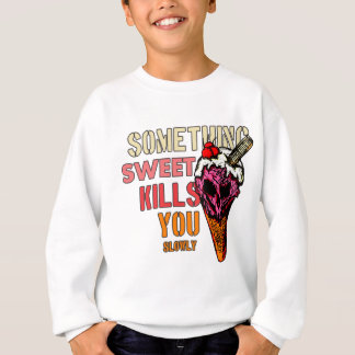何か甘い殺害、(ゆっくり) スウェットシャツ
