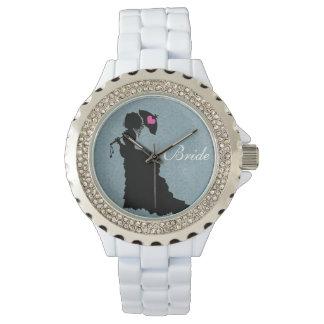 何か青ヴィンテージ花嫁の腕時計 腕時計
